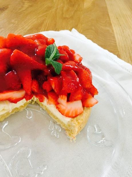 leichte Erdbeertarte