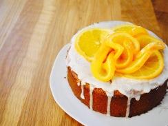 vitaminreichen Orangenkuchen