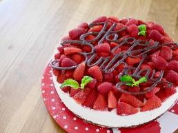lockere Erdbeer-Schokotorte