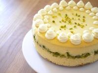 spritziger Pastazien-Cheesecake