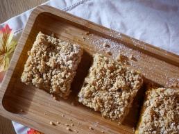Pumkin-Cheesecake mit Streuseln